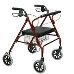 Rollator Oversize With Loop Bk Red Bariatric Steel(10215RD-1) - * Large 8  casters are ideal for indoor and outdoor use * Comes