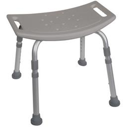 Shower Safety Bench W/O Back Tool-Free Assembly  Grey - Image Number 63281